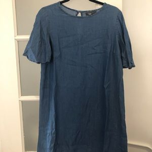 Primark Denim Dress with Bell Sleeve